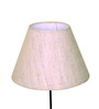 Craftter Grey Acrylic Fused with Textured Khadi Cloth Lamp Shade