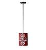 Craftter Engineered Design Red & White Round Hanging Lamp