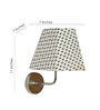 Craftter Floral Motif White Square Fabric Wall Lamp
