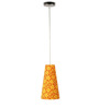 Craftter Flowers Design Yellow Color Hanging Lamp