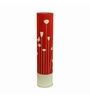 Craftter Contemporary Red & White Floral Floor Lamp