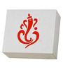Craftter Ganesha White & Red Square Wall Lamp