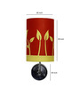 Craftter Growing Plants Upward Red & Yellow Wall Lamp