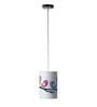 Craftter Loving Birds White Round Hanging Lamp