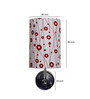 Craftter Floral Upward White & Red Wall Lamp