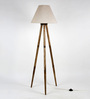 Craftter Off White Fabric Tripod Floor Lamp