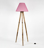 Craftter Pink Fabric Tripod Floor Lamp