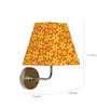 Craftter Pretty Floral Yellow Square Wall Lamp
