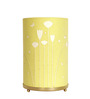 Craftter Flower Design Yellow Round Paper Table Lamp