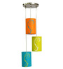 Craftter Liberty Style Multicolour 5W LED Hanging Lamp - Set of 3