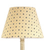 Craftter Swastika Design Soft Yellow Wooden & Fabric Floor Lamp