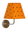 Craftter Swastika Design Yellow Square Fabric Wall Lamp