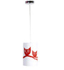 Craftter Talking Owl White & Red 0.5W LED Hanging Lamp