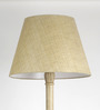 Craftter Bright Yellow Acrylic Fused with Cloth Textured Floor Lamp Shade