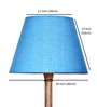 Craftter Sky Blue Acrylic Fused with Cloth Floor Lamp Shade