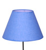Craftter Blue Acrylic Fused with Textured Cloth Lamp Shade