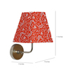 Craftter Traditional Keri Design Orange Square Fabric Wall Lamp