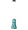 Craftter Treditional Keri Design Green Color Hanging Lamp