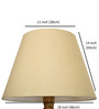 Craftter Light Yellow Acrylic Fused with Tusser Silk Cloth Floor Lamp Shade