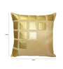 Creative Homez Gold & Beige Polyester 16 x 16 Inch Abstract Cushion Cover
