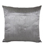 Creative Homez Grey Polyester 16 x 16 Inch Embroidery Cushion Cover
