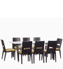 Crescent Eight Seater Dining Table in Dark Chocolate Colour by Godrej Interio