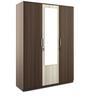 Crescent Three Door Wardrobe with Mirror in Dark Acasia Finish by Spacewood