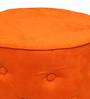 Cronaland Round Ottoman in Orange Colour by SIWA Style