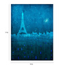 Crude Area Paper 12 x 17 Inch The Eiffel Tower in Paris Print Unframed Poster