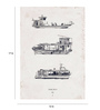 Crude Area Paper 12 x 17 Inch Tigre Delta- Ships Part One Print Unframed Poster