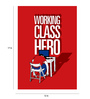 Crude Area Paper 12 x 17 Inch Working Class Hero Print Unframed Poster