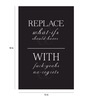 Crude Area Paper 12 x 18 Inch No Regrets Unframed Poster