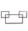 Crystal Furnitech Trio Wenge Engineered Wood Wall Shelf - Set of 3