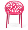 Crystal Polypropylene Chair in Pink Colour by Nilkamal