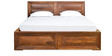 Cubus Queen Bed With Storage by @home
