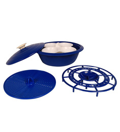 Cutting Edge Microwave Cooking Starter Combo, 5 Piece Set, Electric Blue Electric Blue Polypropylene 1.8 L Idli & Dhokla Maker - Set Of 5