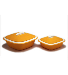 Cutting Edge Solitaire Double Walled Casseroles 2pcs - Orange