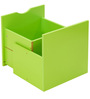Yuma Cube Cabinet Drawer in Green Colour by Mintwud
