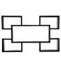Safal Quartz Black Engineered Wood Cubed Look All In One Wall Shelf