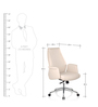 Curve Medium Back Executive Chair in White PU by Oblique