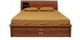 Daffodil Queen Bed in Teak Finish by Royal Oak