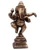 Devadeva Dancing Ganesh Idol in Brown by Mudramark
