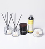 Dadaint Lemon Flower Reed Diffuser & Soy Candle - Set of 5
