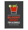DailyObjects Paper Bloody Mary Unframed Poster
