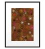 DailyObjects Paper Brown Floral Framed Art Print