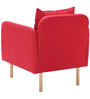 Daleesha One Seater Sofa in Red Colour by Madesos