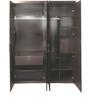 Dallas Four Door Wardrobe in Dark Oak Finish by HomeTown