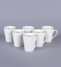 Dandy Lines Conical 340 ML Bone China Mug - Set of 6