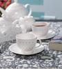 Dandy Lines Crown Blush Bone China Tea Set - Set of 15