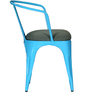 Danlou Blue Colour Iron Chair with Cushion by Bohemiana